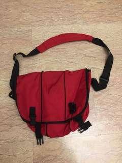 Red sling bag messenger bag