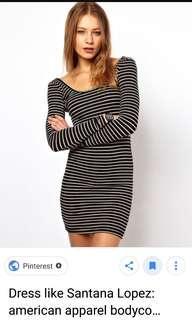 American Apparel Bodycon Stripe dress