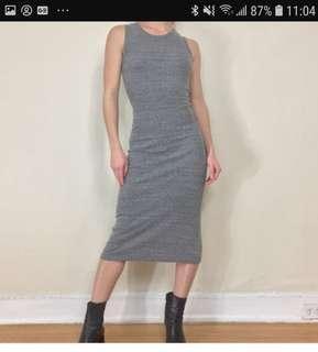 Brandy Mellvile Midi Grey Dress