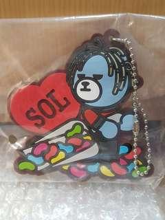 BigBang KRUNK Chocolatier 一番賞 J賞 太陽 Taeyang SOL 熊 吊飾 掛飾 1款