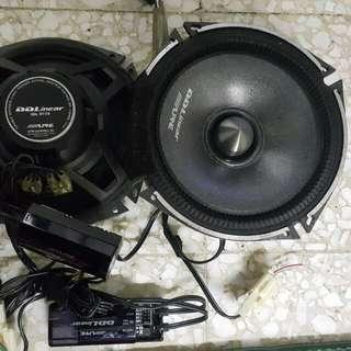 speaker alpine with crossover