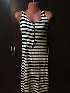 Stripes casual bodyfit dress worn few times still looking new. No issues and flaws!!!Reprice
