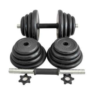 🚚 28kg Rubberised Dumbbell Set