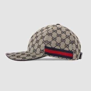 二手😎Gucci GG Supreme canvas baseball hat / cap with dust bag 男女同款 帽 連塵袋