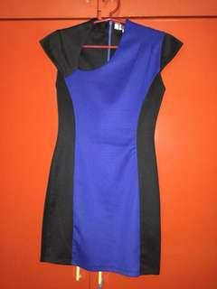 Black and blue bandage dress