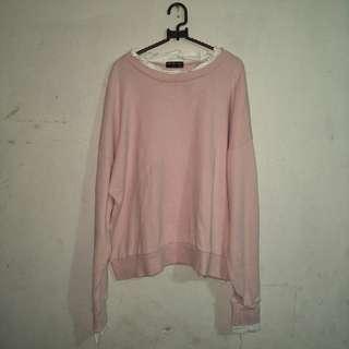 Loose sweater pink korea