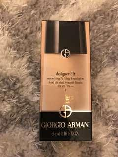 Giorgio Armani Designer Lift Smoothing Firming Foundation SPF 20 - 5ml - colour 4
