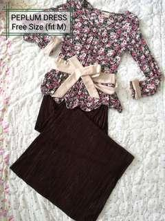 Peplum dress (cotton)