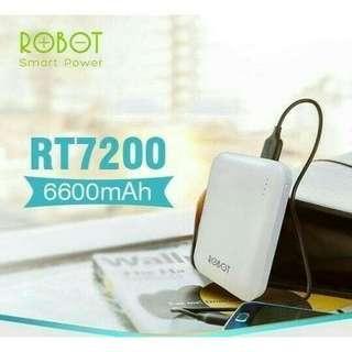 Powerbank Robot RT7200 6600mAh 2 USB & LED Power Bank Vivan