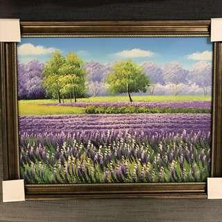 Lavender Field Oil Painting
