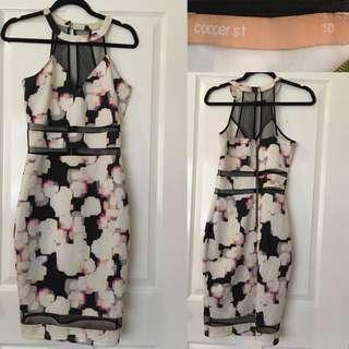 COOPER ST Printed Cutout Dress