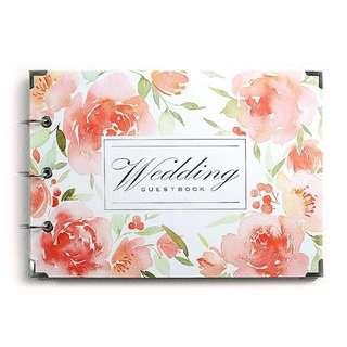 結婚簽到簿 wedding guest sign-in book