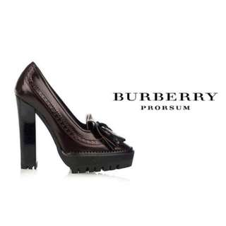 BURBERRY PRORSUM Thomond Tassel Platform in Burgundy 73aa628a80