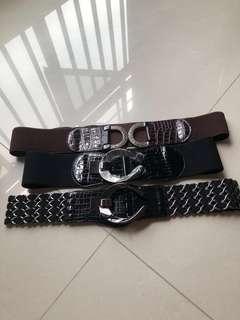Plus size Ladies Belts (3pc for $10)