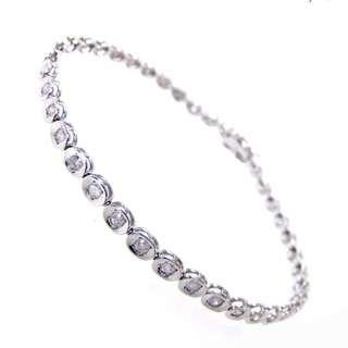 SOLD - 1 ct Diamond Tennis Bracelet - 14k