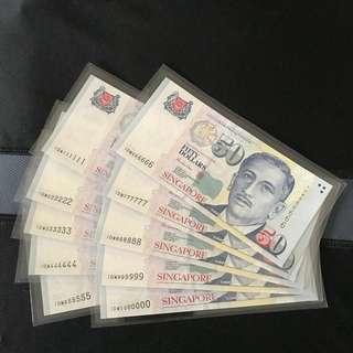 (1000000 & 000000-999999) 10pc Portrait $50 Note