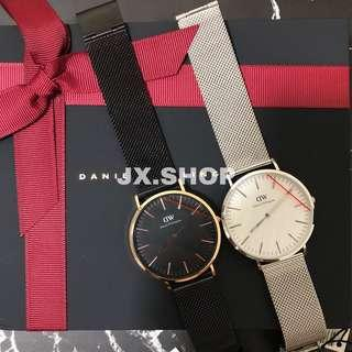 [NEW] Daniel Wellington Stainless Steel Mesh Strap Watches