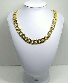 12mm Men's Yellow Gold Filled Necklace