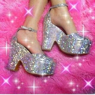 Jeffrey Campbell holographic platforms