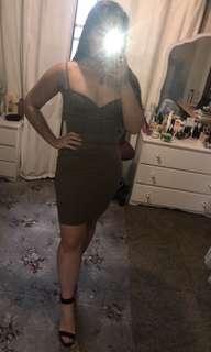 Khaki kookai dress