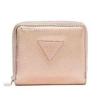 NEW Guess Women's Abree Small Zipped Around Wallet (Rose Gold) [NON NEGO]