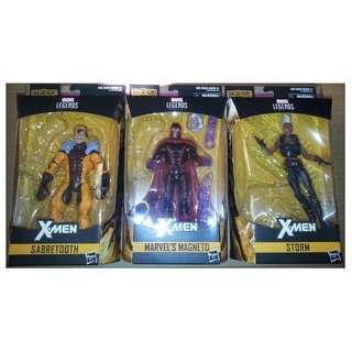 Marvel Legends X-Men 3隻 figures 不連BAF ( Magneto, Storm, Sabretooth )
