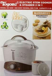 Electric Stew Cooker & Steamer 2 in 1