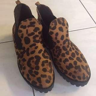 Leopard prints canvas shoes #MidSep50