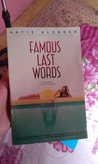 Famous Last Word Book