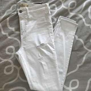 Highwaisted white jeans
