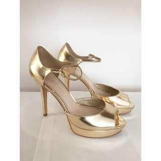 Charles and Keith Gold Shoes