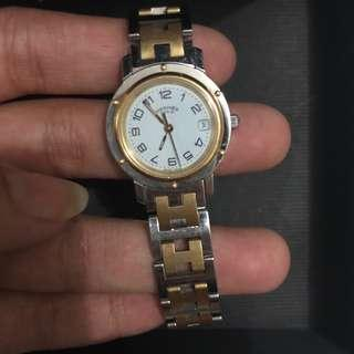Hermes Paris Watch Gold Plated Authentic
