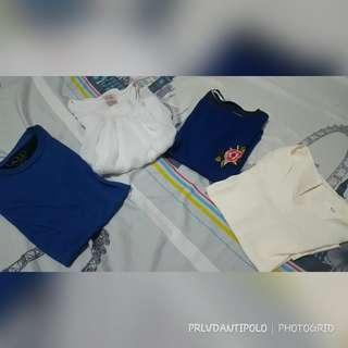 TAKE ALLL !!! blue and white tops!!