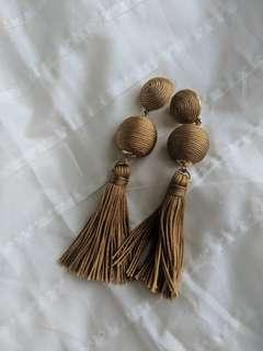 ASOS Tassel Earrings - Beige