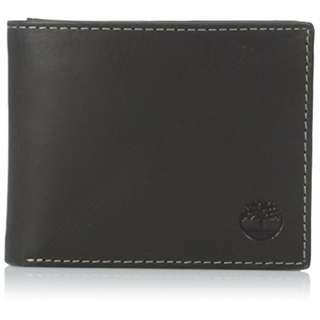 NEW Timberland Men's Hunter Smooth Leather Wallet with Passcase and Gift Box (Black)