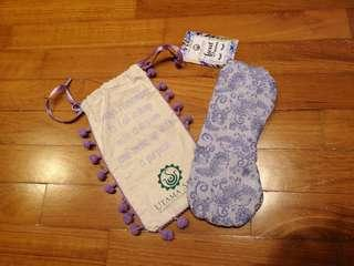 Eye mask with pouch for 2 sets