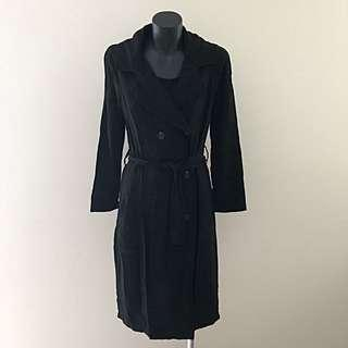 Cotton On Trench Coat - Black (Light Material)