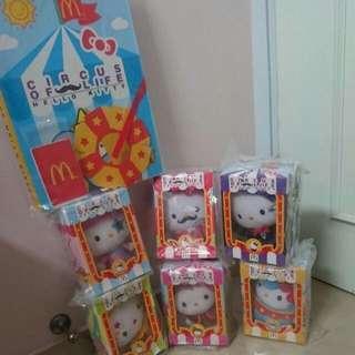 馬戲團2013年Hello Kitty公仔全套