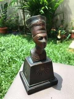 Egypt ancient bronze sculpture queen nefertiti antique collectible