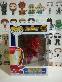 Funko Pop Red Chrome Ironman Exclusive Vinyl Figure Collectible Toy Gift Movie Avengers Infinity War Marvel Flying Iron Man