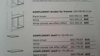 Ikea pax divider