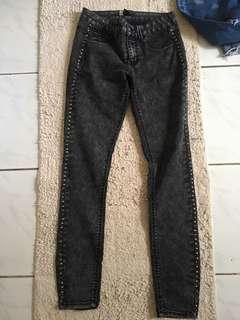 Forever 21 studded jeans