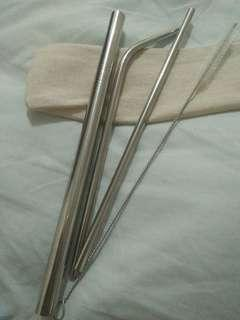 Stainless steel metal straw set 140 php only