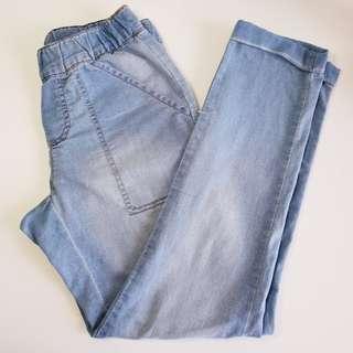 NOW - Size 6 - Light Blue Denim Style Mom Jeans