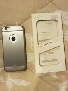 iPhone 6 Case Moshi Hard Shell Metal Silver