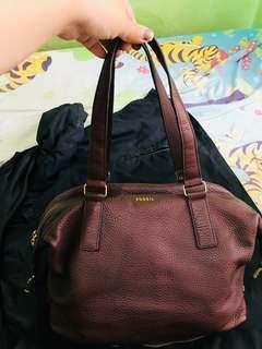 FOSSIL Maroon Handbag / tas wanita