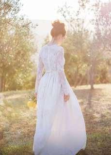 蕾絲長袖輕婚紗