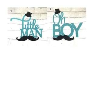 Oh Little Man / Oh Boy Cake Topper