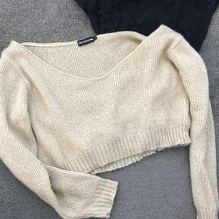 Knit beige