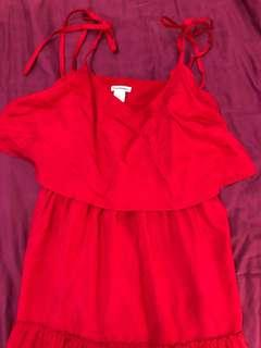Club Monaco silk red dress
